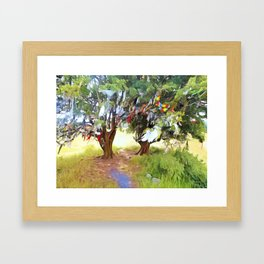 Wishing Tree on Tara Hill Framed Art Print