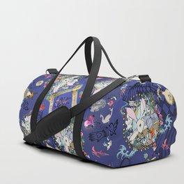 RABBIT Navy in the matrix of love Duffle Bag