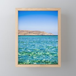 Elafonisi beach Framed Mini Art Print