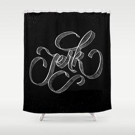 Type Jerk Shower Curtain