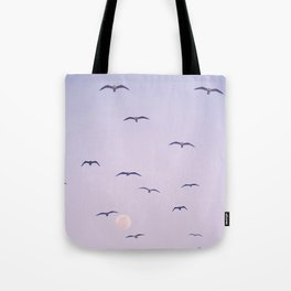Seagulls & Moon by Murray Bolesta Tote Bag