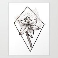 Flower dots Art Print