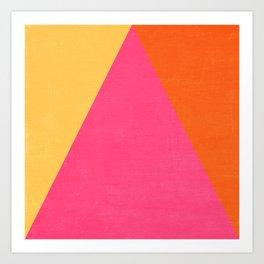 mod triangles - summer  Art Print