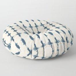 Shibori Movement in Indigo Floor Pillow