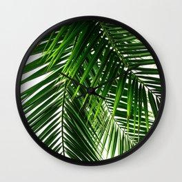 Palm Leaves #3 Wall Clock