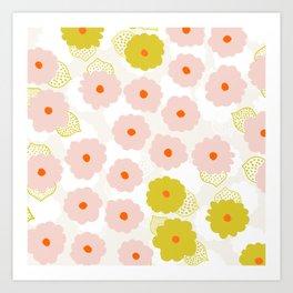 Olivia, flower child Art Print