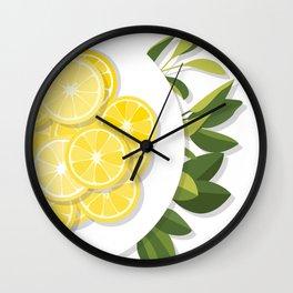 Citrus Plate Wall Clock