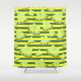 Christmas bells and stripes Shower Curtain