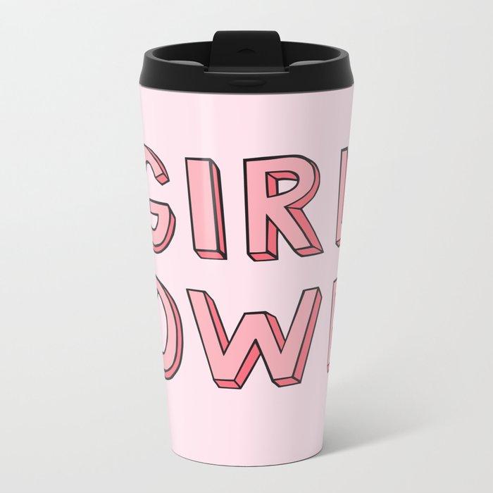 Girl Power Metal Travel Mug