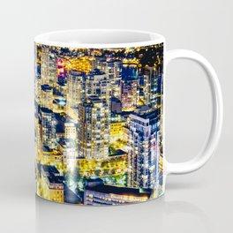 Voyeuristic 1560 Vancouver Cityscape Golden Luminous Yaletown Vancouver Coffee Mug