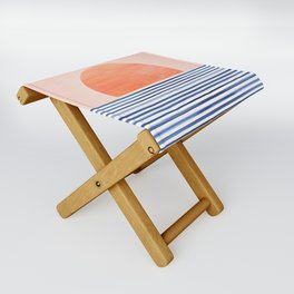 Summer Sunrise - Minimal Abstract Folding Stool