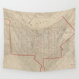 Vintage Map of Louisville KY (1880) Wall Tapestry
