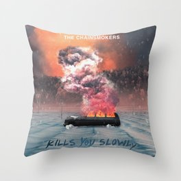 THE CHAINSMOKERS KILLS YOU SLOWLY TOUR DATES 2019 TELUKBETUNG Throw Pillow