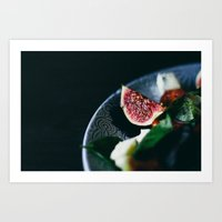 fig Art Prints featuring fig by anna bell