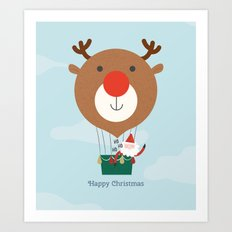 Day 13/25 Advent - Air Rudolph Art Print