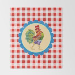 Rise and Shine Rooster Throw Blanket