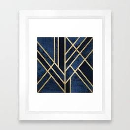 Art Deco Midnight Framed Art Print