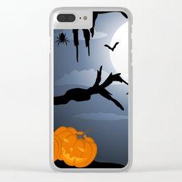 Halloween Bats And Pumpkins Clear iPhone Case