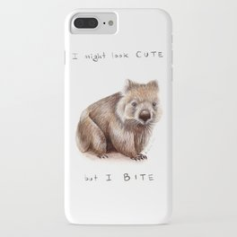 I might look cute, but I bite iPhone Case