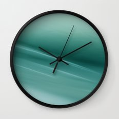 Fantasy Space Lines 1 Turquoise Wall Clock