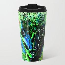 Split-face Green Travel Mug