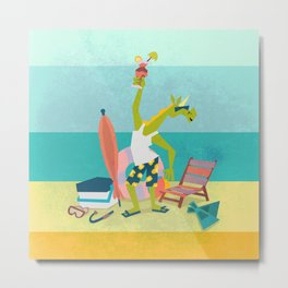 Ready For Unicorn Summer Metal Print