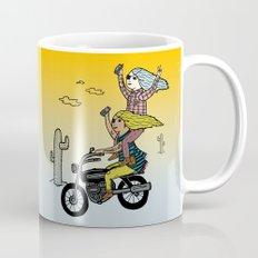 On the freedom experienced by Desert Bike Harpies.   Mug
