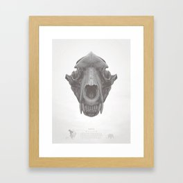 Grizzly Skull Framed Art Print