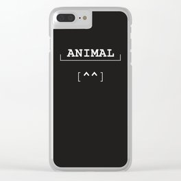 Animal - typography meets ascii art Clear iPhone Case
