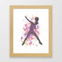 Hip Hop Dancer Framed Art Print