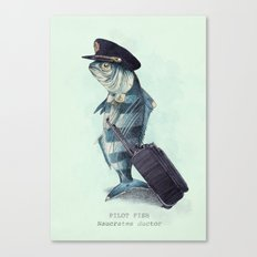 The Pilot (colour option) Canvas Print