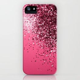 Light Red Sparkling Glitter Dream #1 #shiny #decor #art #society6 iPhone Case