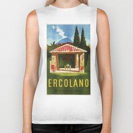 Ercolano Naples Italian summer travel ad Biker Tank