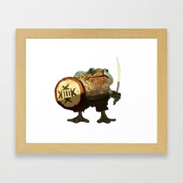 Frog warrior Framed Art Print
