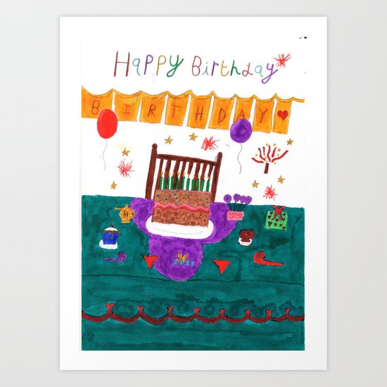 Happy Yummy Birthday Art Print