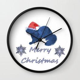 Santa Ferret Wall Clock