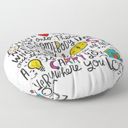 Everywhere You Look Floor Pillow