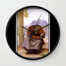Bouguereau's Invisible Bohemian Wall Clock