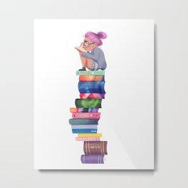 Bookworm Metal Print