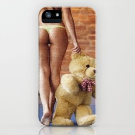 Lingerie and Teddy bear iPhone Case