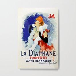La Diaphane Sarah Bernhardt Metal Print