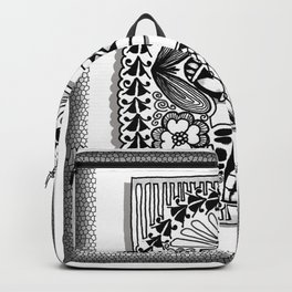 Zentangle E Monogram Alphabet Illustration Backpack