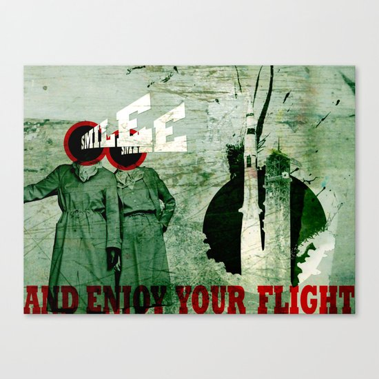 Smile and Enjoy Your Flight Canvas Print