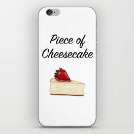 Piece of Cheesecake iPhone Skin