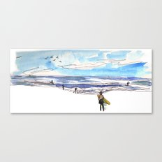 Surfing in California Canvas Print