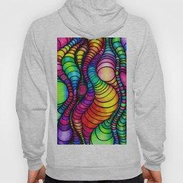 Colorful Worm Op Art Hoody