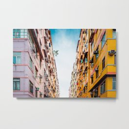 Residential apartment in old district, Hong Kong Metal Print