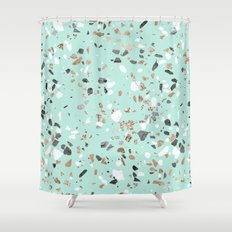 Mint Green Shower Curtain. Glitter And Grit Marble Blue and Terrazzo Shower Curtains Society6  mint green nickbarron co 100 Mint Green Curtain Images My Blog