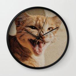 Cat by Praveen kumar Mathivanan Wall Clock