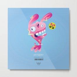 Electric Bunny-Wabbit Metal Print